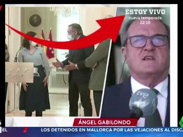 El rótulo de RTVE durante una entrevista a Ángel Gabilondo que arrasa en redes sociales