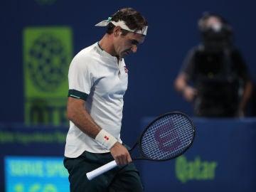Roger Federer, en el Open 250 de Doha