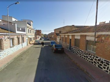 Calle de Alhama de Murcia donde tuvieron lugar los hechos