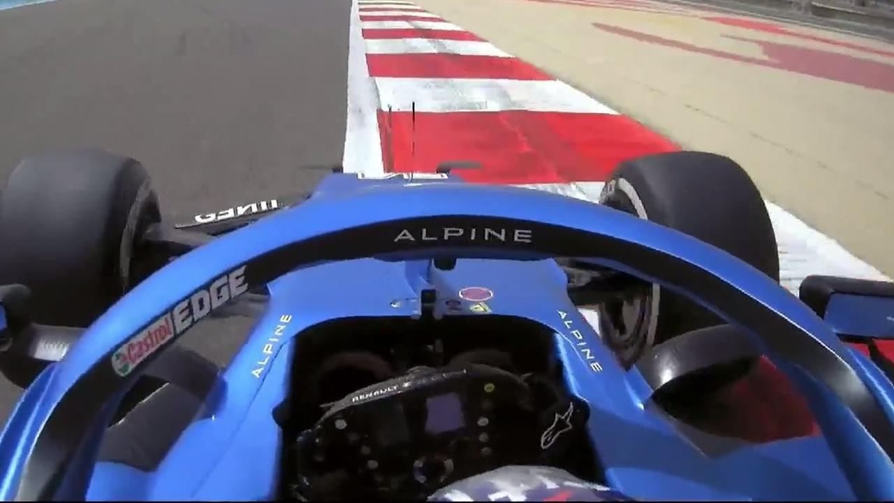 Fernando Alonso, en el Alpine A521