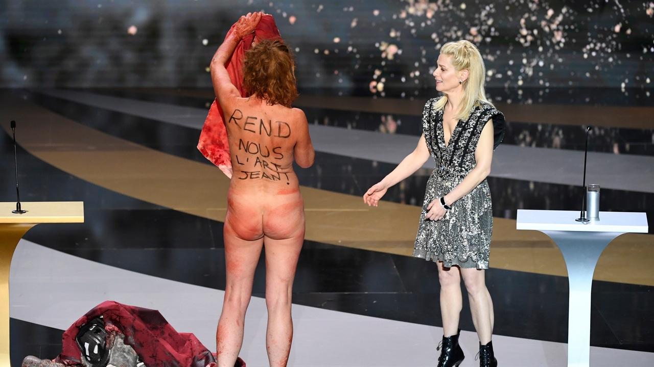 Corinne Masiero y su mensaje en los premios César de Francia