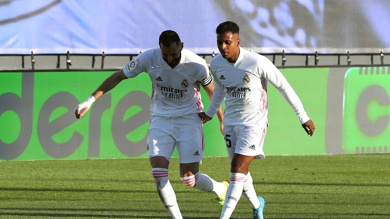 Benzema, con Rodrygo