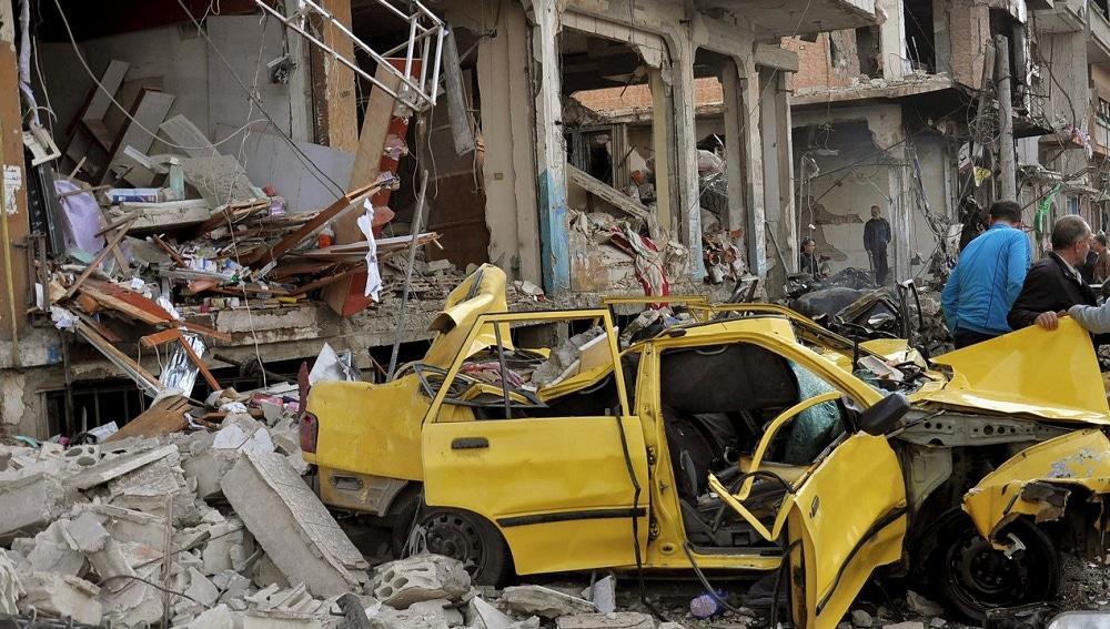 Imagen de archivo de destrozos en Siria