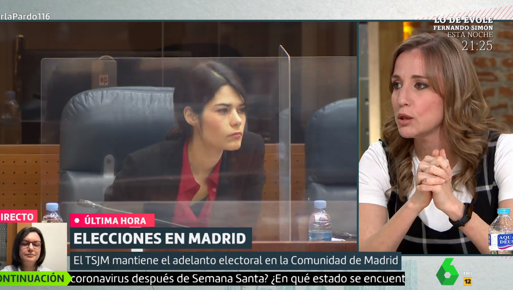 Tania Sánchez, en Liarla Pardo