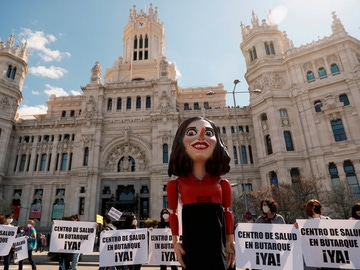 Protestas en defensa de la sanidad pública en Madrid