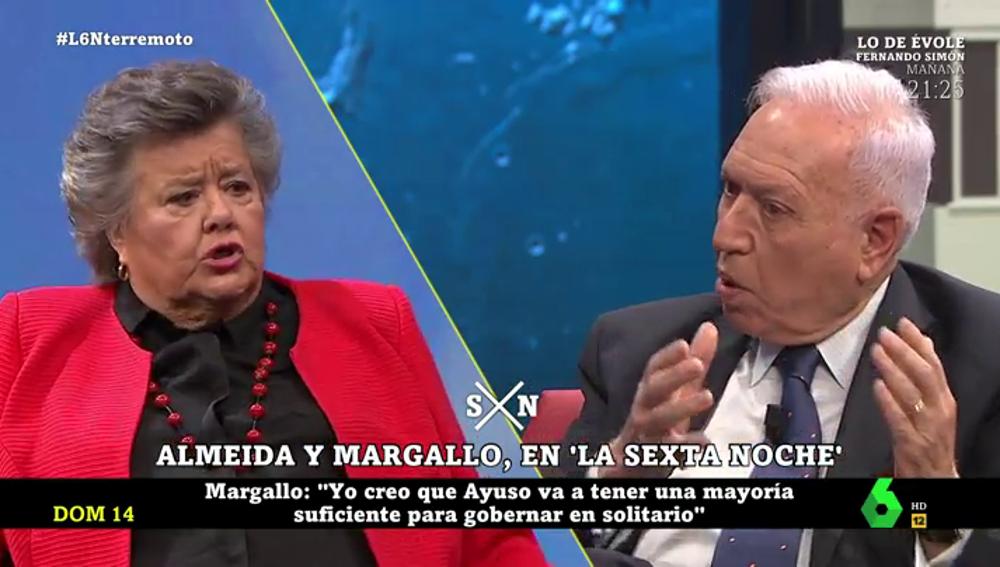 """""""Podemos me parece más anticonstitucional que Vox"""": el intenso cara a cara entre Margallo y Almeida"""