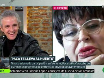 """Paca la Piraña 'regaña' a Ramoncín: """"Que se corte el pelo"""""""