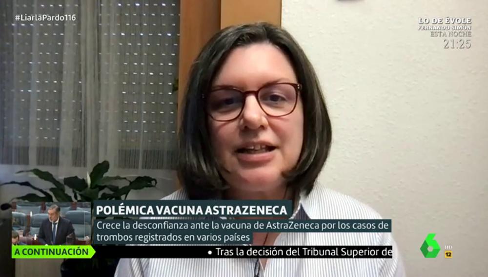 """La viróloga Sonia Zúñiga llama a la calma con la vacuna de AstraZeneca: """"Cualquier cosa que le pasa se magnifica"""""""