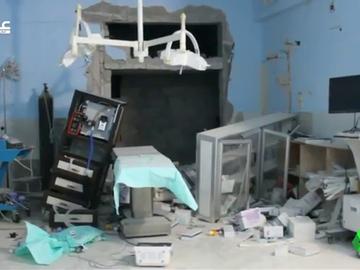 Imagen de un centro sanitario atacado en Siria