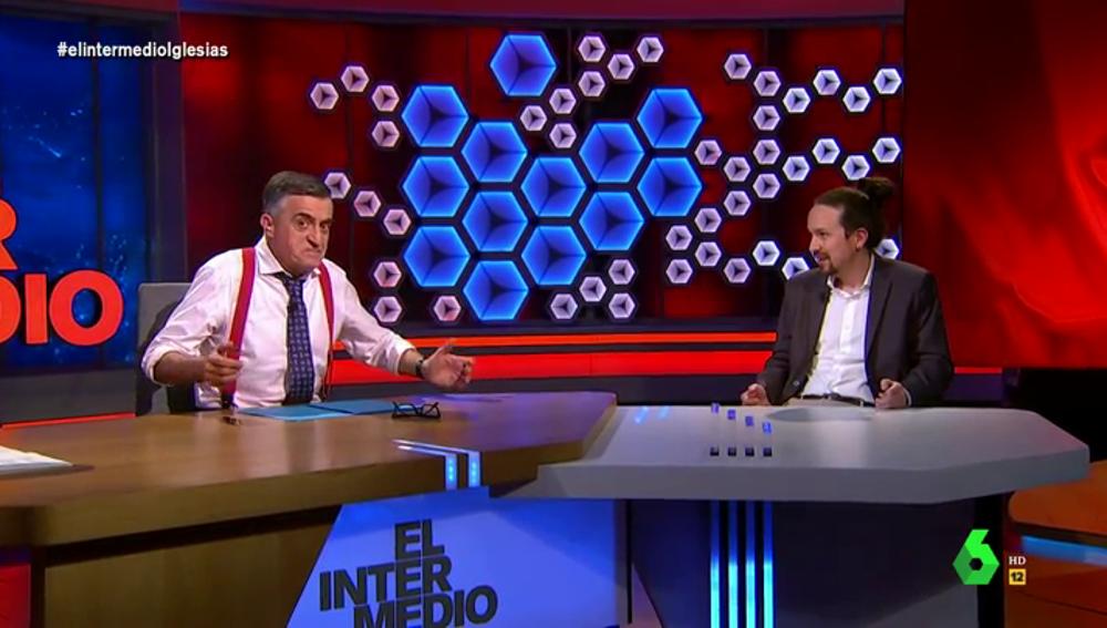 """Iglesias 'lamenta' que Wyoming no se presente a las elecciones en Madrid: """"Tú sí que me ganabas las primarias"""""""