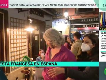 Turistas franceses en Madrid increpan a una reportera de laSexta