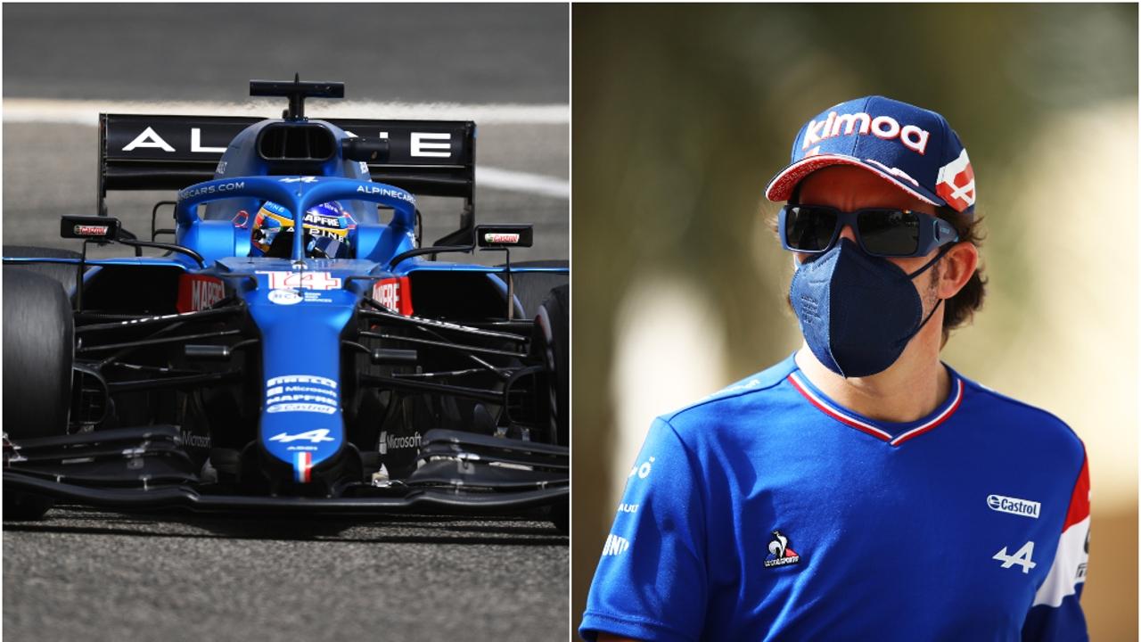 Fernando Alonso y el Alpine A521