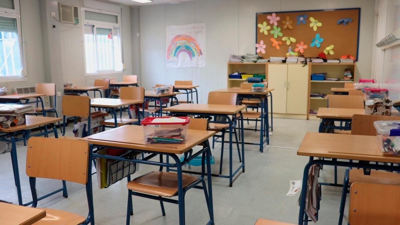 Aula de un colegio de Málaga