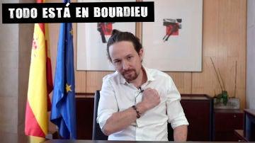 Pablo Iglesias anunciando su candidatura a la Comunidad de Madrid