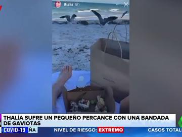 """Thalía sufre un percance en la playa: """"¿Es que no me van a dejar en paz?"""