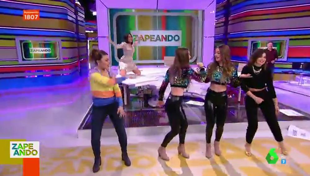 Valeria Ros, Lorena Castell y Marta Torné lo dan todo bailando con Twin Melody