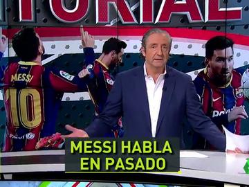 """Pedrerol. """"Messi guarda el mensaje ilusionante para el domingo, cuando será el jugador con más partidos en la historia del Barça"""""""