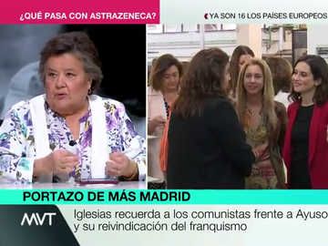 """El mensaje de Cristina Almeida a Ayuso tras sus polémicas declaraciones: """"Ahora se puede decir 'comunismo o fascismo'"""