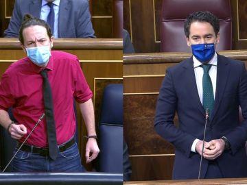 Pablo Iglesias y Teodoro García Egea en el Congreso