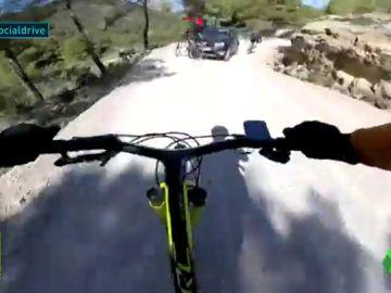 Accidente ciclista camino