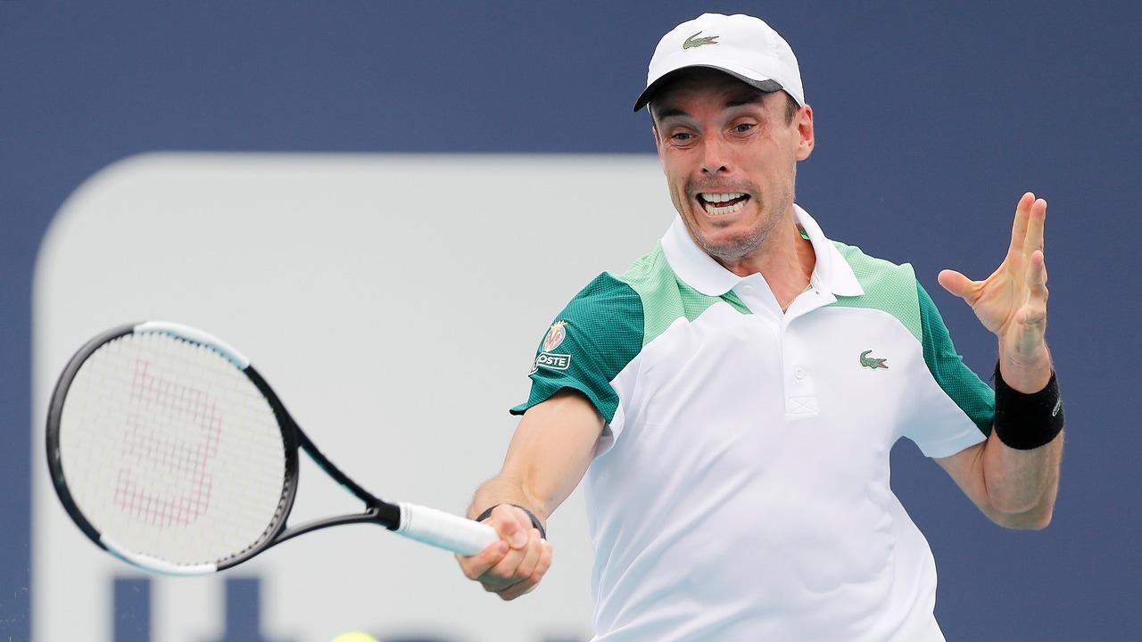 Roberto Bautista en el Miami Open