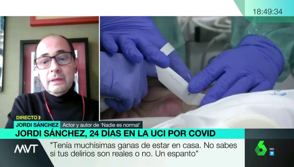 """Jordi Sánchez habla tras pasar 24 días en la UCI por COVID: """"El coma inducido es un horror, pensé que había muerto mi hijo"""""""