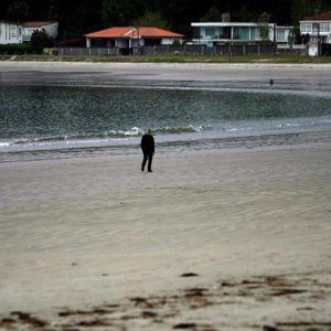 Playa de A Madalena, en el concello coruñés de Cabanas