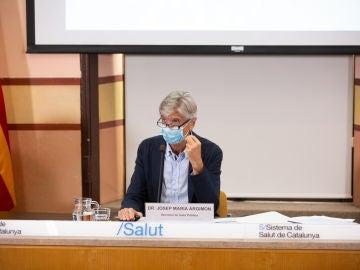 El secretario de Salud Pública de la Generalitat, Josep Maria Argimón, ofrece una rueda de prensa en la Consellería de la Salud