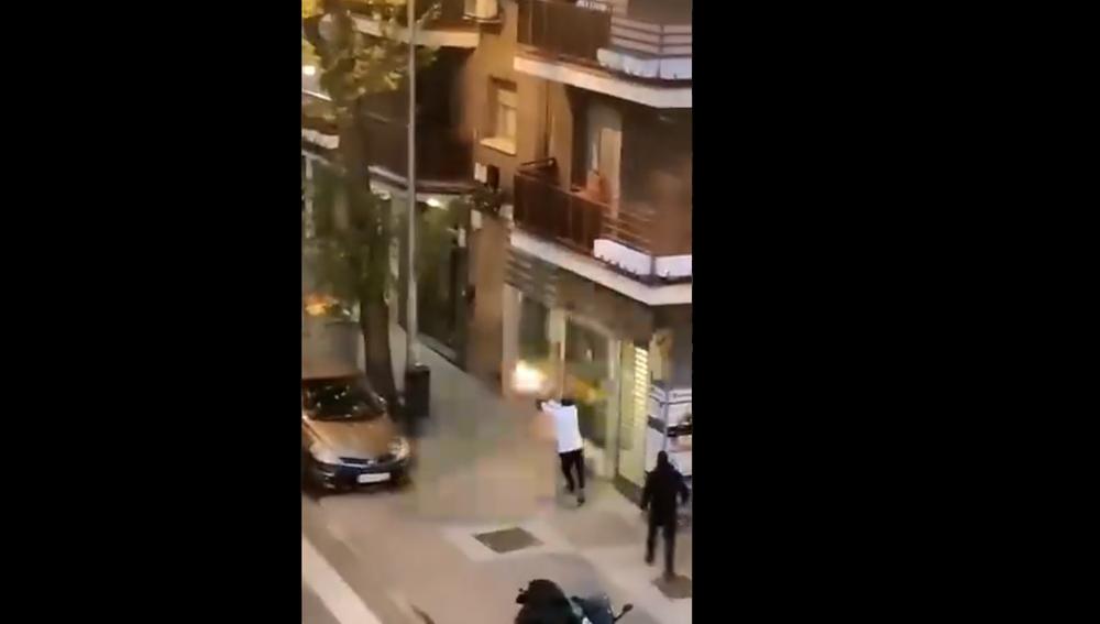 Momento del tiroteo entre bandas rivales en Ciudad Lineal