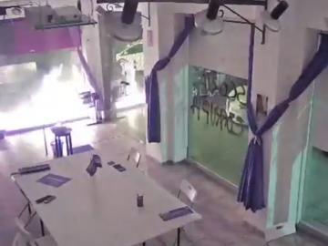 Atacan la sede de Podemos en Cartagena