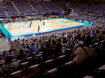 El WiZink Center, durante un partido del Movistar Estudiantes