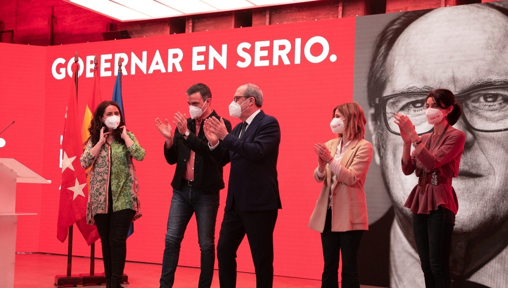 Imagen de un acto de precampaña del PSOE