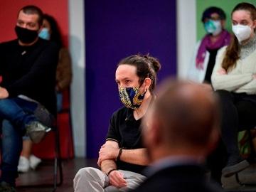 El candidato de Unidas Podemos a la Comunidad de Madrid, Pablo Iglesias
