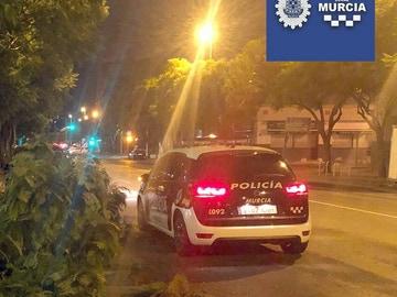 Un coche patrulla de la Policía de Murcia