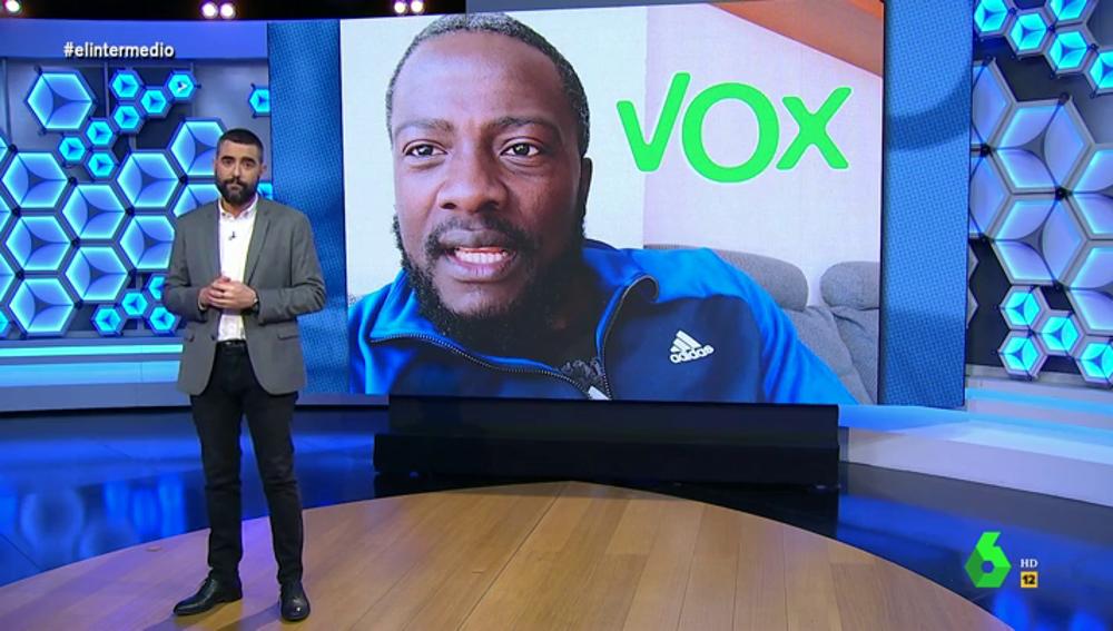 El Intermedio (05-04-21) La reacción de Dani Mateo al conocer la dura crítica de Bertrand Ndongo a Vox por sus palabras racistas