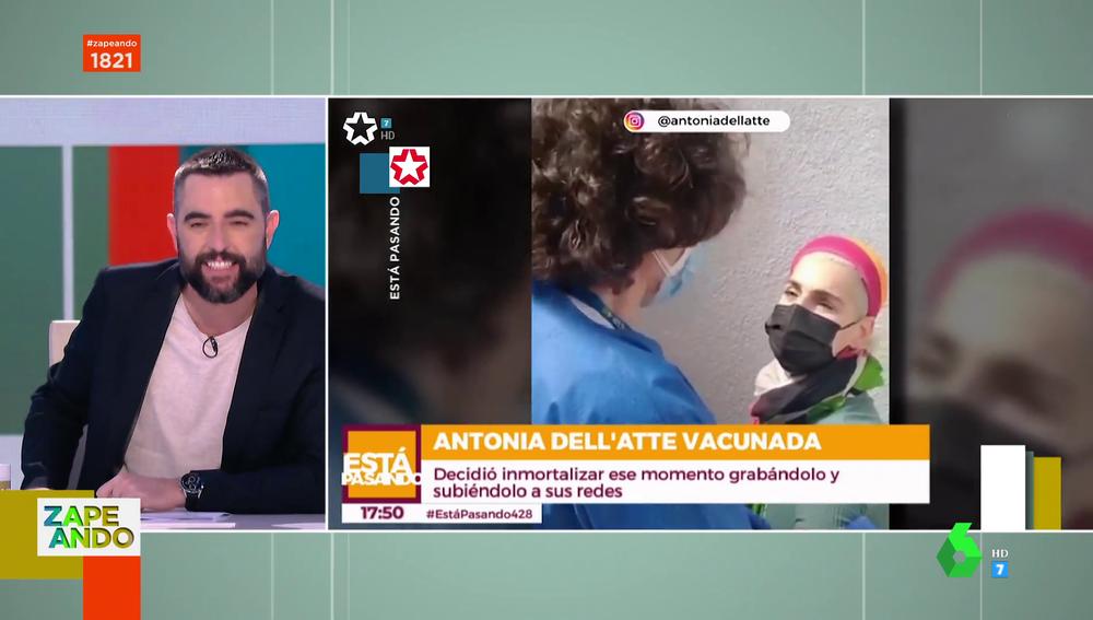 """Dani Mateo analiza la """"inesperada consecuencia"""" de la vacuna del coronavirus en Antonia Dell'Atte"""