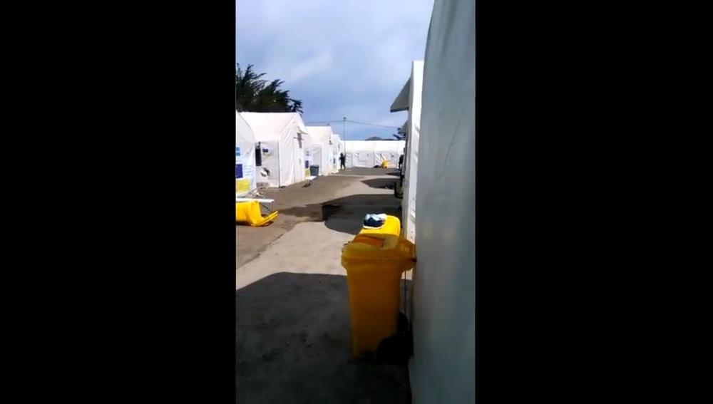 Intervención policial en un campamento de migrantes en Tenerife