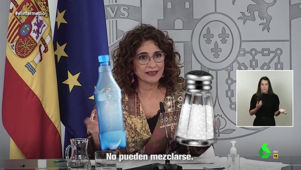 """""""El agua y la sal no puedes mezclarse"""": el hit de María José Montero sobre la libertad de expresión"""