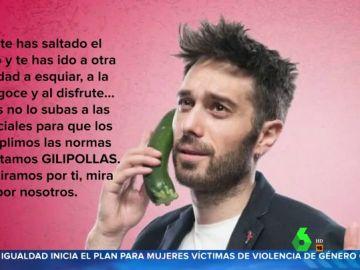 """Dani Martínez estalla contra los que se saltan las restricciones: """"Ya que te has saltado el perímetro, no lo subas a las redes"""""""