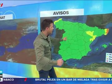 El tiempo cambia con un descenso de las temperaturas en el norte y varias provincias en alerta por viento y oleaje