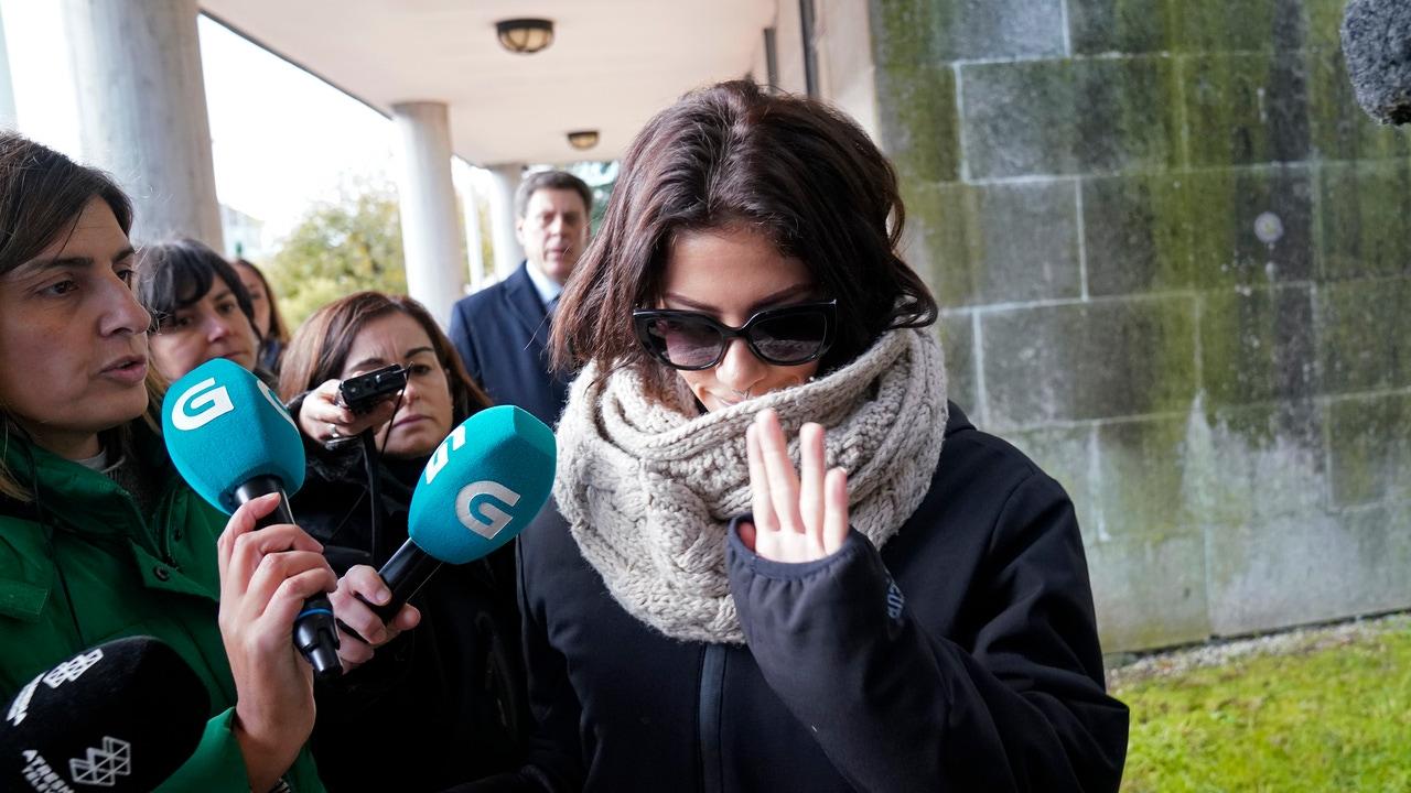 Valeria Quer a su llegada al juicio por el asesinato de su hermana (Archivo)