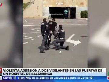 Dos jóvenes amenazan y agreden a dos responsables de seguridad del Hospital de Salamanca