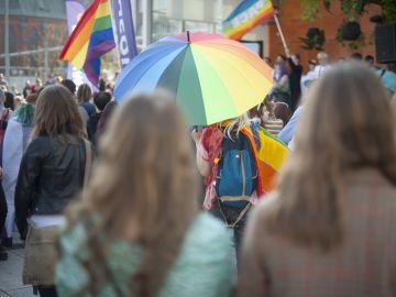 Imagen de una manifestación por los derechos de las personas Lgtbi
