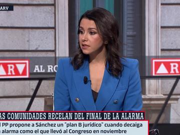 La líder de Ciudadanos, Inés Arrimadas, en Al Rojo Vivo
