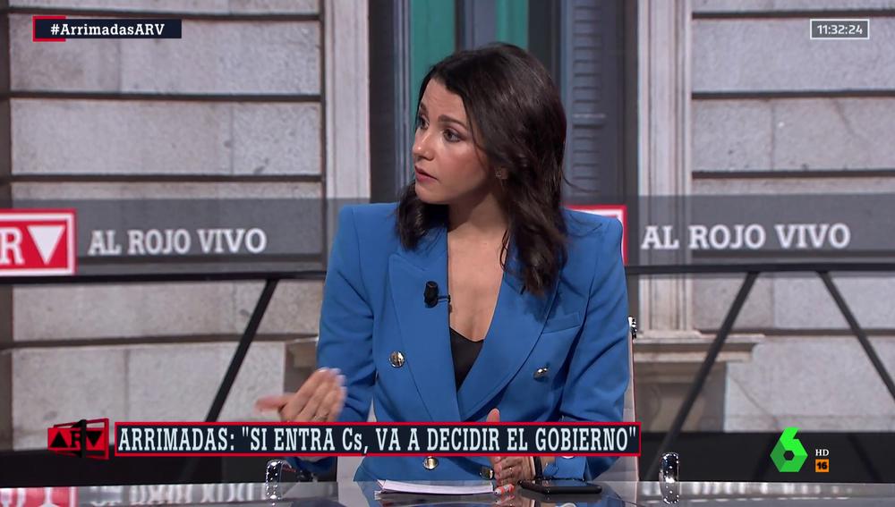 Inés Arrimadas en Al Rojo Vivo