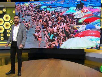 """Dani Mateo repasa los """"vacíos legales"""" de la ley de la mascarilla en la playa: """"Sería más efectivo llevar gafas de snorkel"""""""
