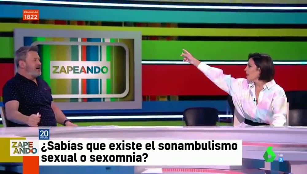 """La indignación de Lorena Castell en directo ante el comentario verde de Miki Nadal: """"Vete, es una guarrada nada más empezar el programa"""""""