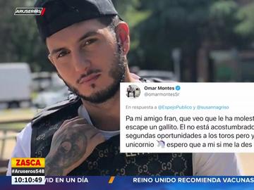 "Omar Montes responde a Fran Rivera: ""No da segundas oportunidades a los toros, pero yo soy un unicornio"""