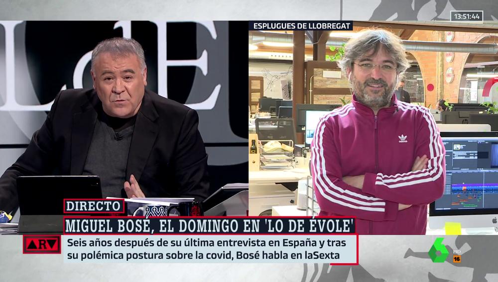 """Évole responde a los que critican la entrevista a Miguel Bosé: """"Todos los medios difundieron sus vídeos, ahora ¿qué problema hay?"""""""
