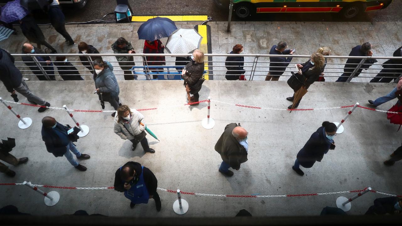 Imagen de la campaña de vacunación en el WiZink Center de Madrid